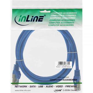 (€0,98*/1m) 5.00m InLine Cat. 5e Patchkabel SF/UTP RJ45 Stecker auf RJ45 Stecker Blau