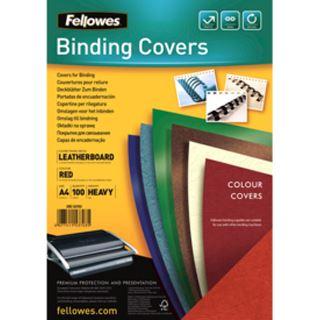 Fellowes Deckblatt Delta, Lederstruktur, DIN A4, rot