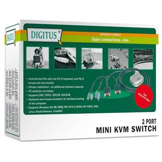 Digitus DC OC12 2-fach Kabel KVM-Switch
