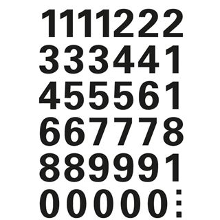 HERMA Zahlen-Sticker 0-9, Folie schwarz, Höhe: 15 mm