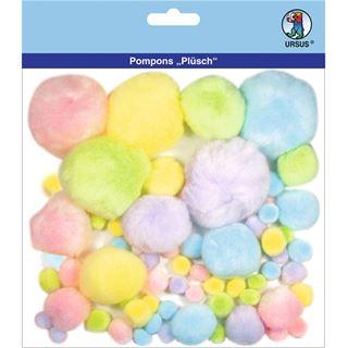 """URSUS Pompon-Set """"Plüsch"""", Pastellfarben"""