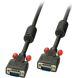 (€17,80*/1m) 0.50m Lindy VGA Anschlusskabel VGA 15pol Stecker auf VGA 15pol Stecker Schwarz doppelt geschirmt