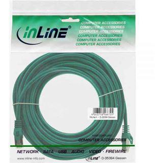(€0,36*/1m) 30.00m InLine Cat. 5e Patchkabel SF/UTP RJ45 Stecker auf RJ45 Stecker Grün