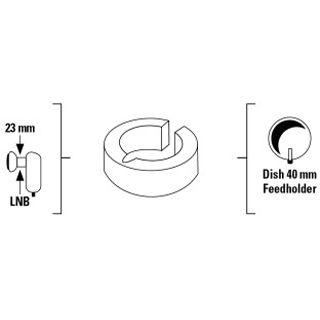 Hama Kunstoff-Distanzring für LNB 23mm/40mm