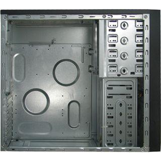 Inter-Tech CA-01 Emotion Silver Midi Tower ohne Netzteil schwarz/silber