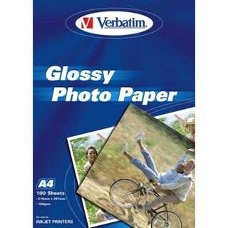Verbatim Fotopapier A4, Inkjet, 150g Glossy