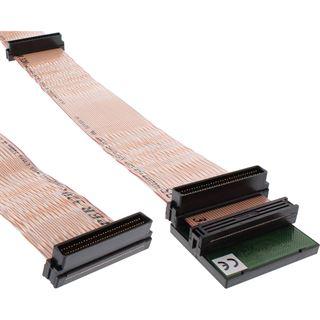 (€62,53*/1m) 0.75m InLine Flachbandkabel Anschlusskabel 68pol Stecker auf 68pol Stecker Schwarz