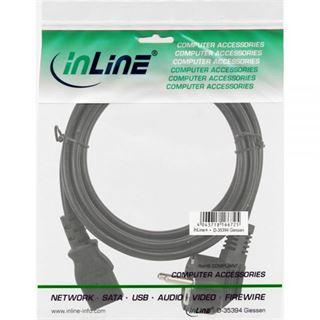(€4,08*/1m) 1.20m InLine stromkabel Anschlusskabel Schutzkontakt Stecker auf Kaltgeräte Stecker C13 Schwarz