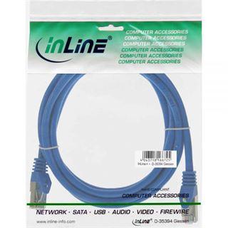(€1,95*/1m) 2.00m InLine Cat. 5e Patchkabel SF/UTP RJ45 Stecker auf RJ45 Stecker Blau
