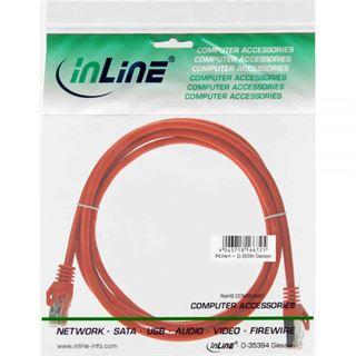 (€1,30*/1m) 3.00m InLine Cat. 5e Patchkabel SF/UTP RJ45 Stecker auf RJ45 Stecker Orange