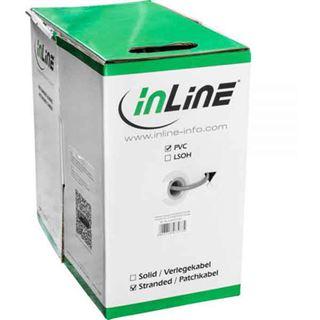 (€0,18*/1m) 300.00m InLine Cat. 5e Verlegekabel F/UTP Grau PVC