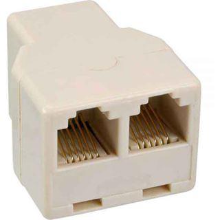 Modular Verteiler 1x RJ12 Buchse auf 2x RJ12 Buchse