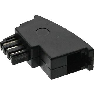 TAE-F Adapter, TAE-F Stecker auf RJ11 Buchse,