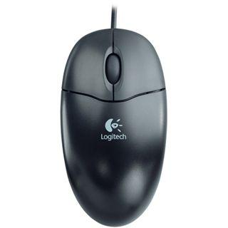 Logitech S96 Optische PS/2 Maus schwarz