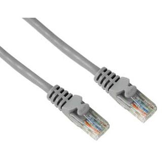 (€1,06*/1m) 15.00m Hama Cat. 5e Patchkabel UTP RJ45 Stecker auf RJ45 Stecker Grau/Silber