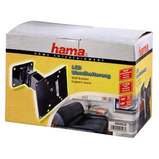 Hama LCD Wandhalterung Vesa 200x100 bis 25kg Schwarz
