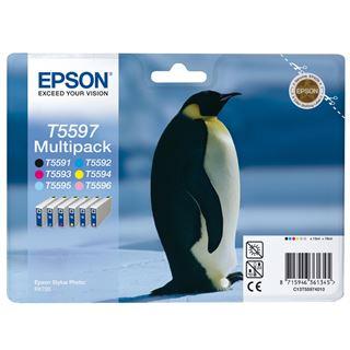 Epson Tinte C13T55974010 schwarz, cyan, magenta, gelb, cyan hell, magenta hell