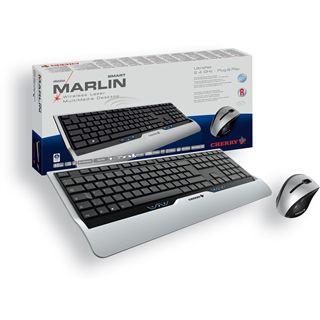 CHERRY M85-25810DE Cordless Desktop eVolution Marlin Smart Wireless Tastatur+Maus Schwarz/Silber Deutsch USB