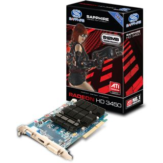 512MB Sapphire Radeon HD 3450 Aktiv AGP (Lite Retail)