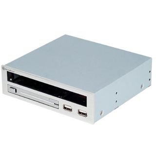 """Silverstone Treasure Multifunktion USB 2.0 silber Front Panel und Einbauschacht für 5,25"""" (SST-TS03S)"""