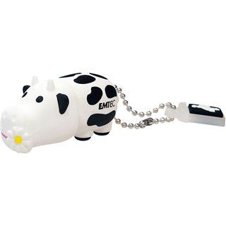 2 GB EMTEC Animals M318 Cow schwarz/weiss USB 2.0