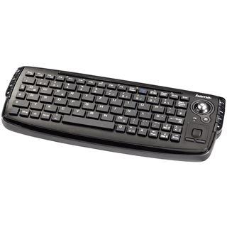 Hama Kompakte Funktastatur Uzzano USB Deutsch schwarz (kabellos)