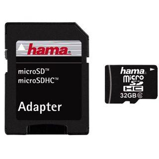 32 GB Hama Foto microSDHC Class 6 Bulk inkl. Adapter