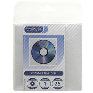 Vivanco CD PPE 25 CD-Umschlaege transparent, PP, 25 Stueck