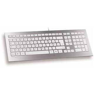 CHERRY Strait USB Englisch weiß/silber (kabelgebunden)