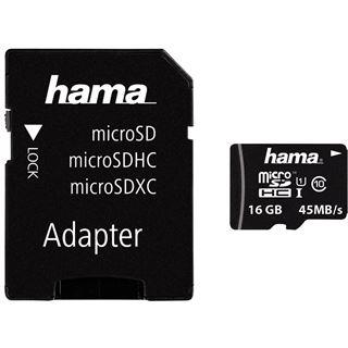 16 GB Hama UHS-I Foto microSDHC Class 10 Retail inkl. Adapter