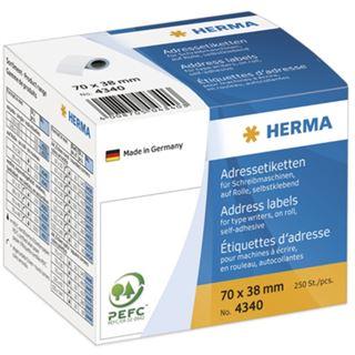 Herma 4340 Adressetiketten auf Rollen 7.0x3.8 cm (250 Stück)