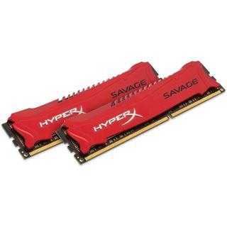 16GB HyperX Savage rot DDR3-1600 DIMM CL9 Dual Kit