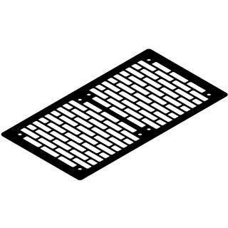 Watercool schwarz Lüfterblende für Gehäuse (21261)