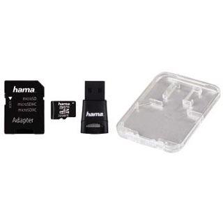 32 GB Hama Zubehör-Set microSDHC Class 10 Retail inkl. USB-Adapter und Adapter auf SD