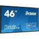 "46"" (116,84cm) iiyama ProLite LH4664S schwarz 1920x1080 BNC / 1xHDMI 1.3 / 1xKomponenten (YUV) / 1xComposite / S-Video / VGA / DVI-D / DisplayPort"
